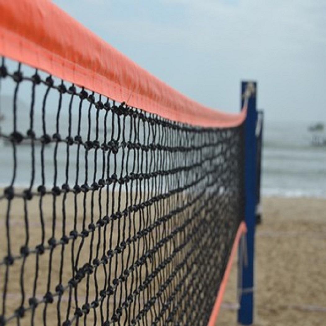 Rede Beach Tennis Fio 1,5 mm Seda 4 Faixas Master Rede