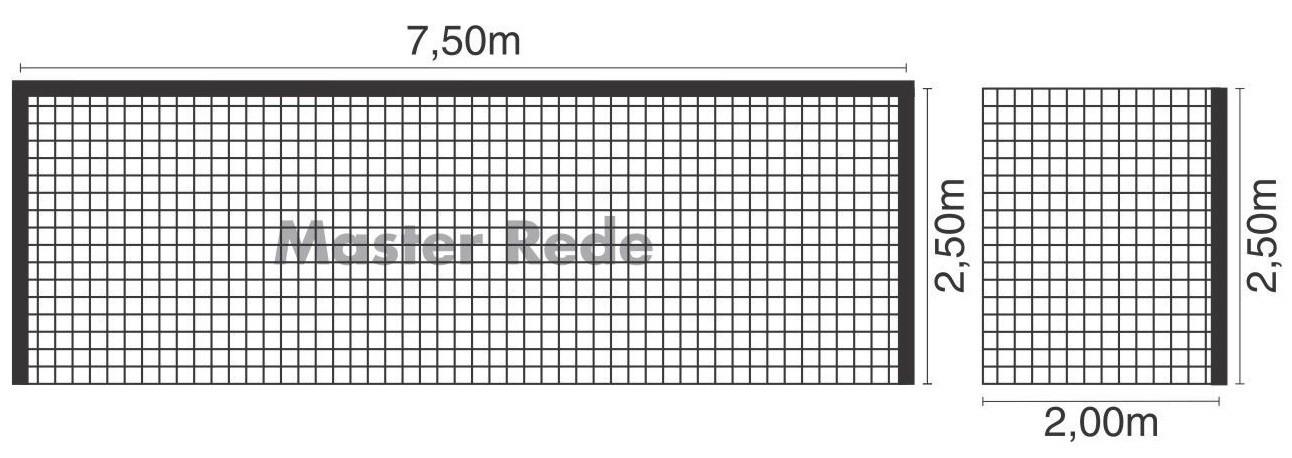 Rede Futebol de Campo Tipo México Fio 4 mm Nylon Master Rede - 1 Par
