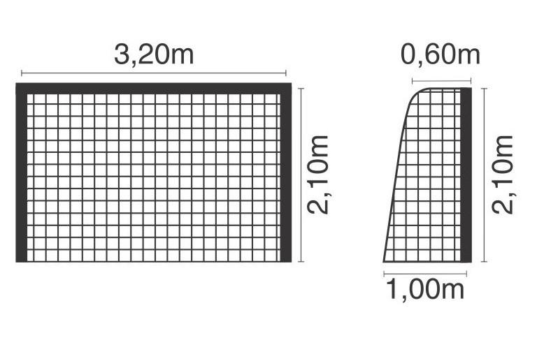 Rede Futebol de Salão Futsal Fio 4 mm Nylon Master Rede - 1 Par