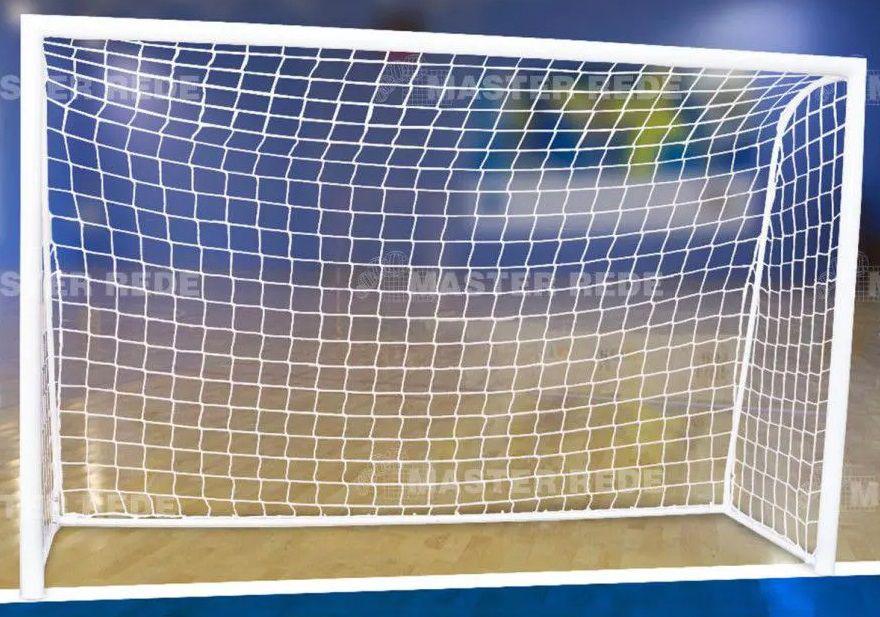 Rede Futebol de Salão Futsal Fio 2,5 mm Seda Master Rede - 1 Par