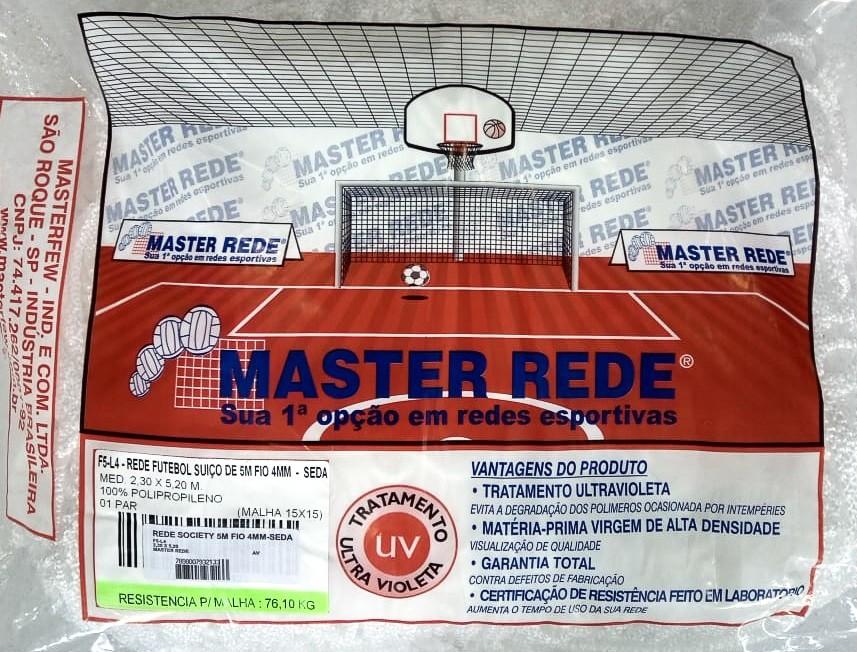 Rede Society 5 Metros Fio 4 mm Seda Master Rede - 1 Par