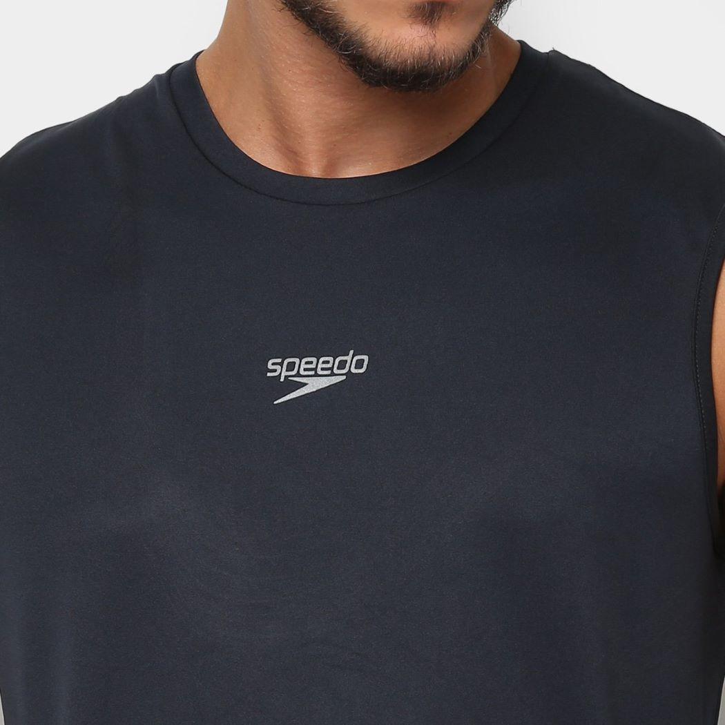 Regata Speedo Stripes Masculina Preto