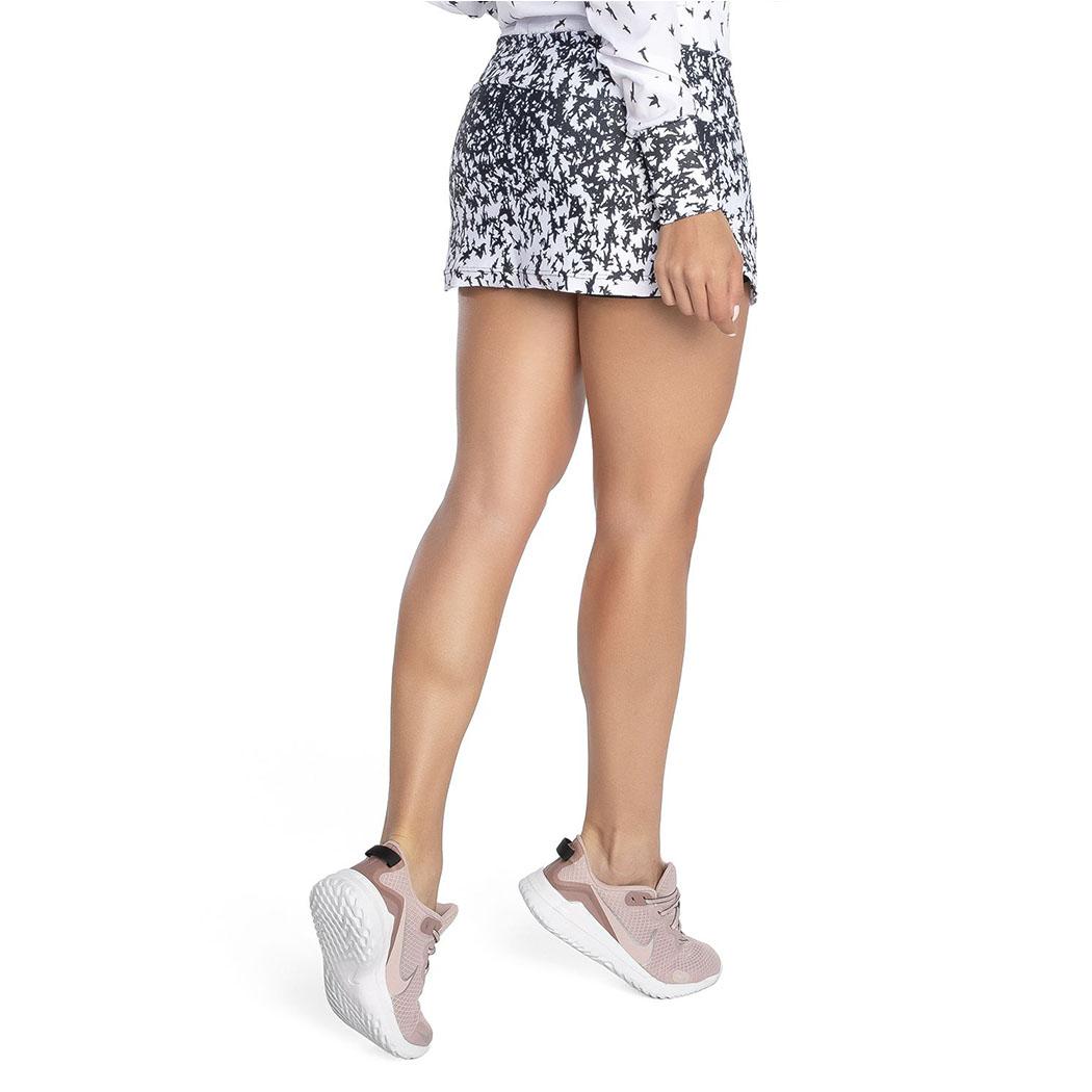 Saia Shorts Trinys Preto e Branco