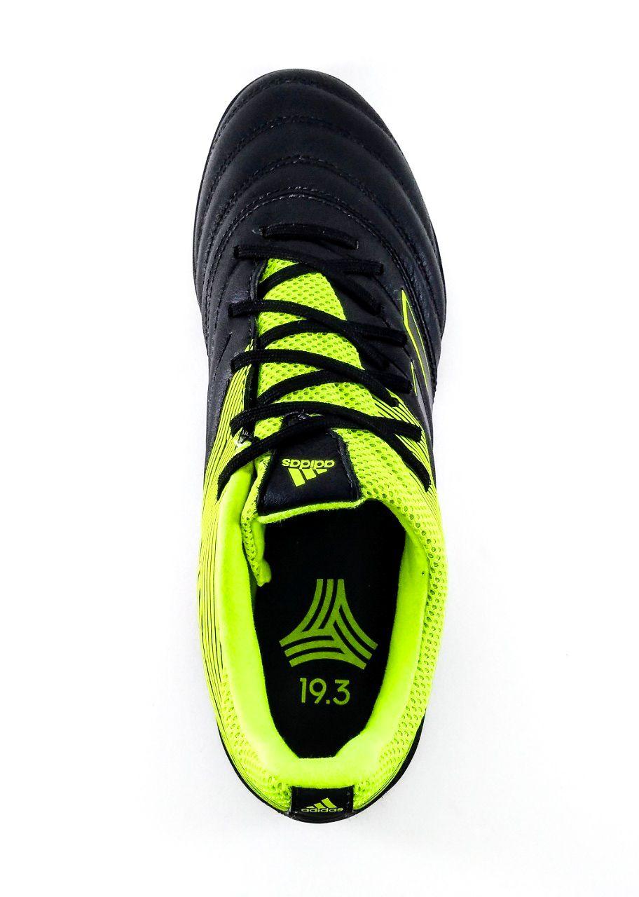 Society Adidas Copa 19.3 TF Couro Natural Preto/Verde Limão
