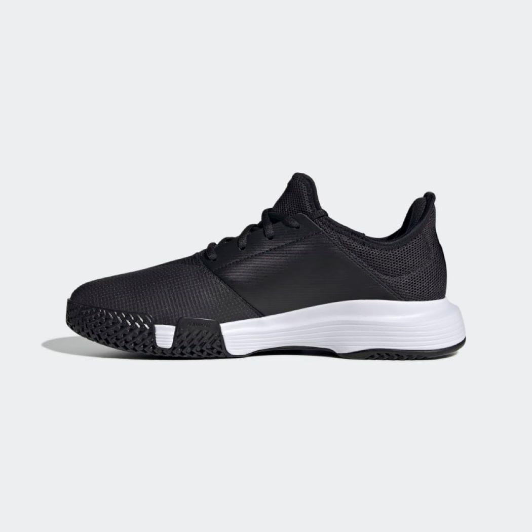 Tênis Adidas GameCourt Masculino Preto e Branco