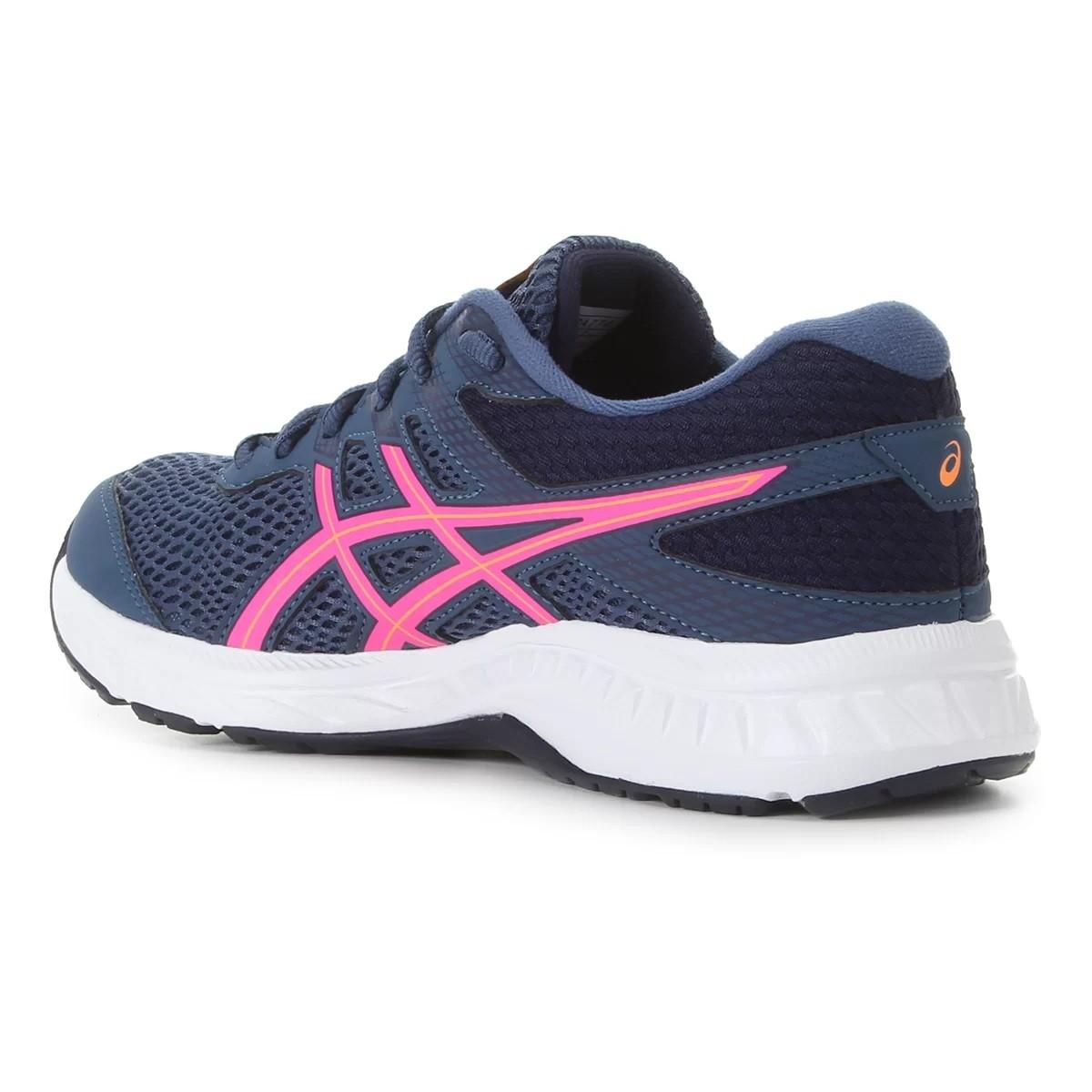 Tênis Asics Gel Contend 6 Feminino Azul e Pink