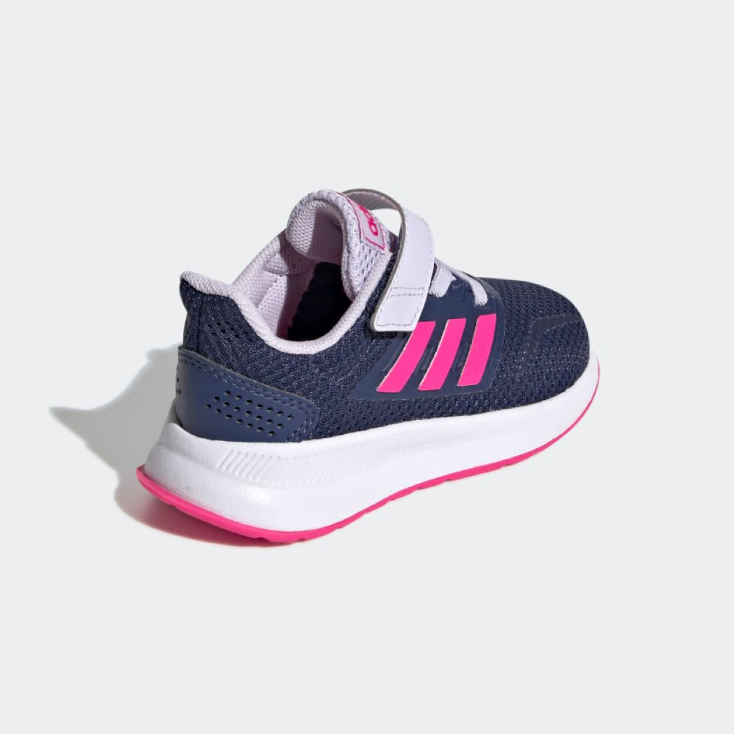 Tênis Infantil Adidas Run Falcon Azul e Rosa