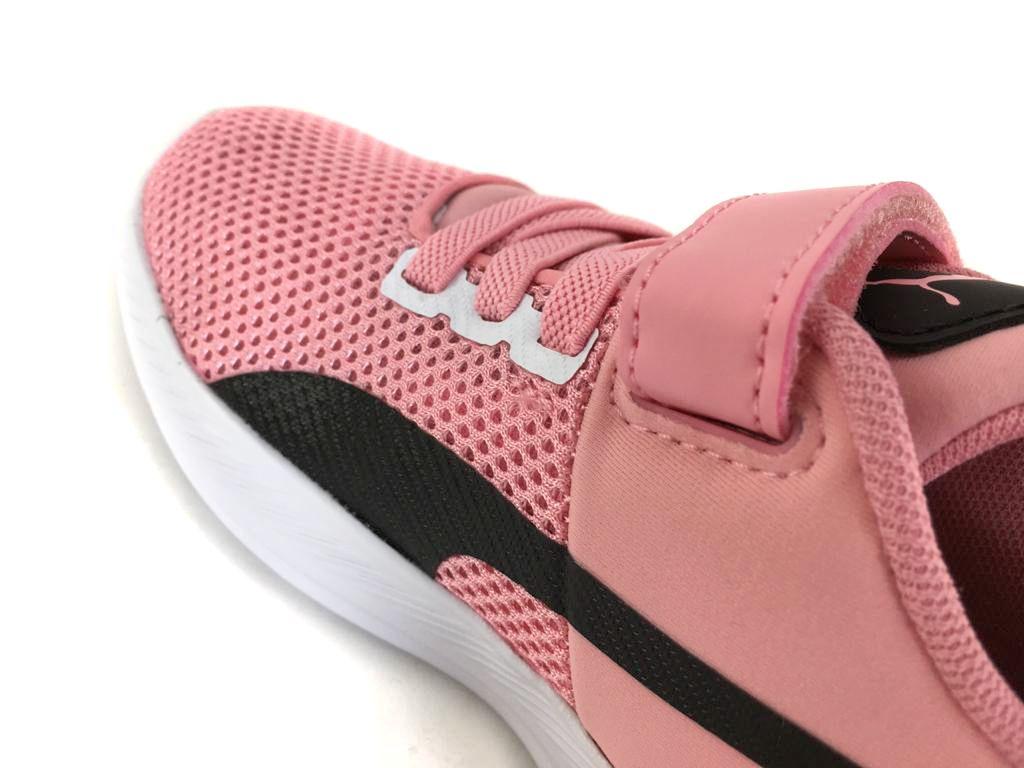 Tênis Infantil Puma Flyer Runner Color Twist Rosa e Preto