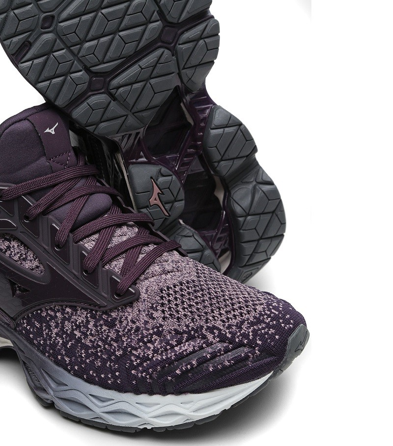 Tênis Mizuno Wave Creation Waveknit 2 Feminino Roxo