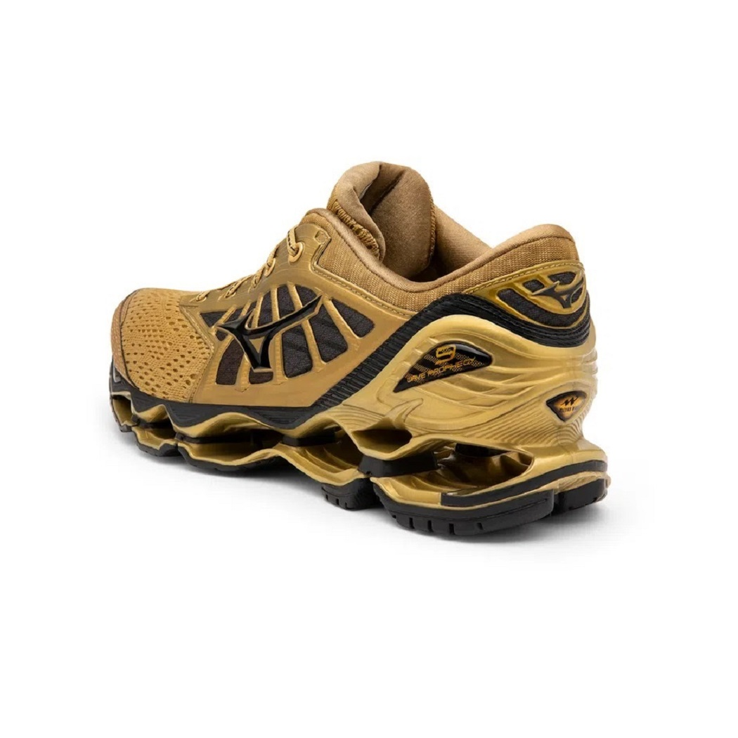 Tênis Mizuno Wave Prophecy 9 Golden Runners Masculino Dourado
