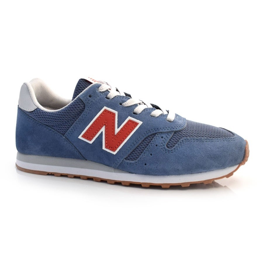 Tênis New Balance 373 ML373RA2 Masculino Azul e Vermelho