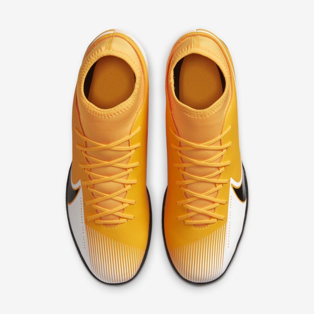 Tênis Nike Futsal Mercurial Superfly 7 Club Amarelo, Preto e Branco