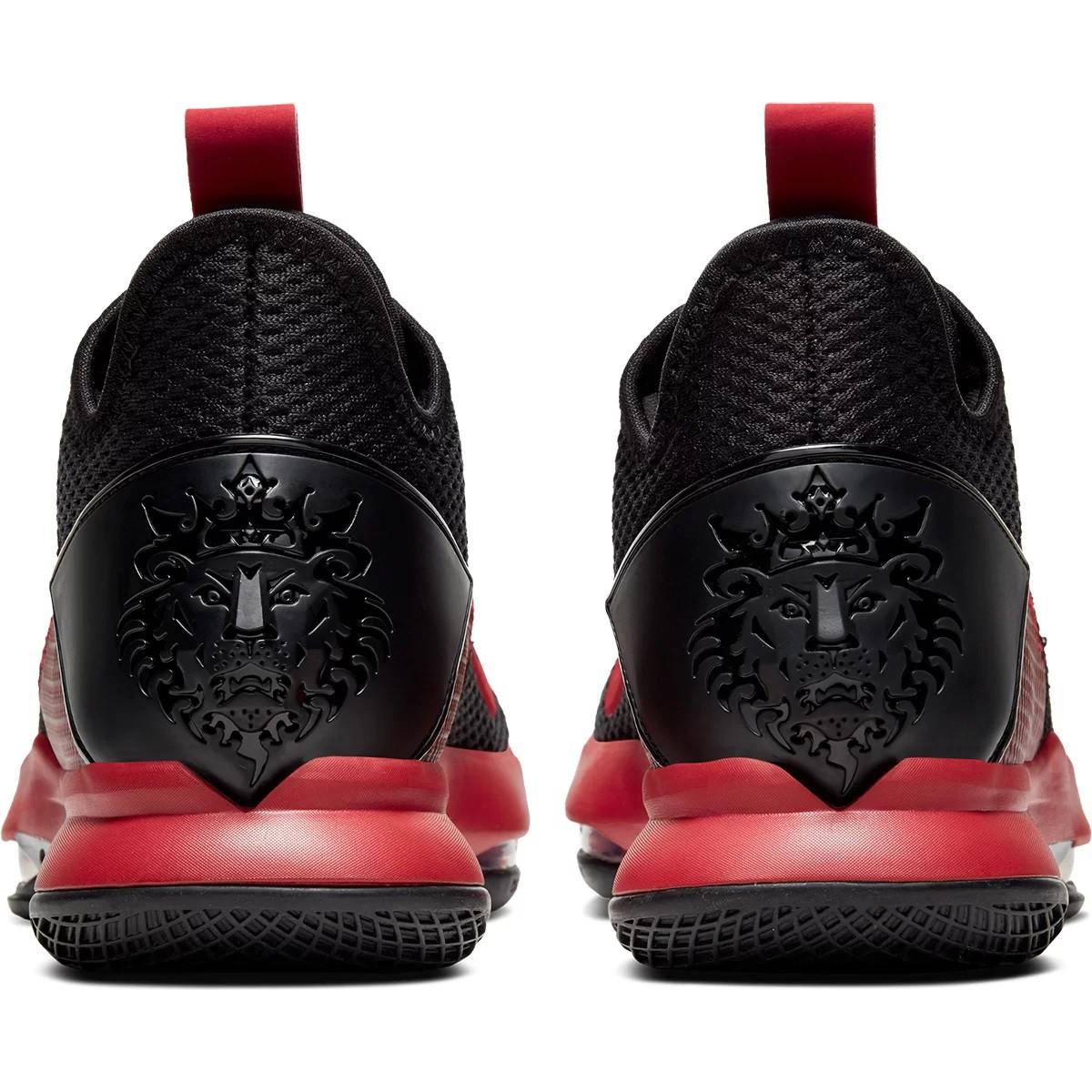 Tênis Nike LeBron Witness IV Basquete Preto e Vermelho