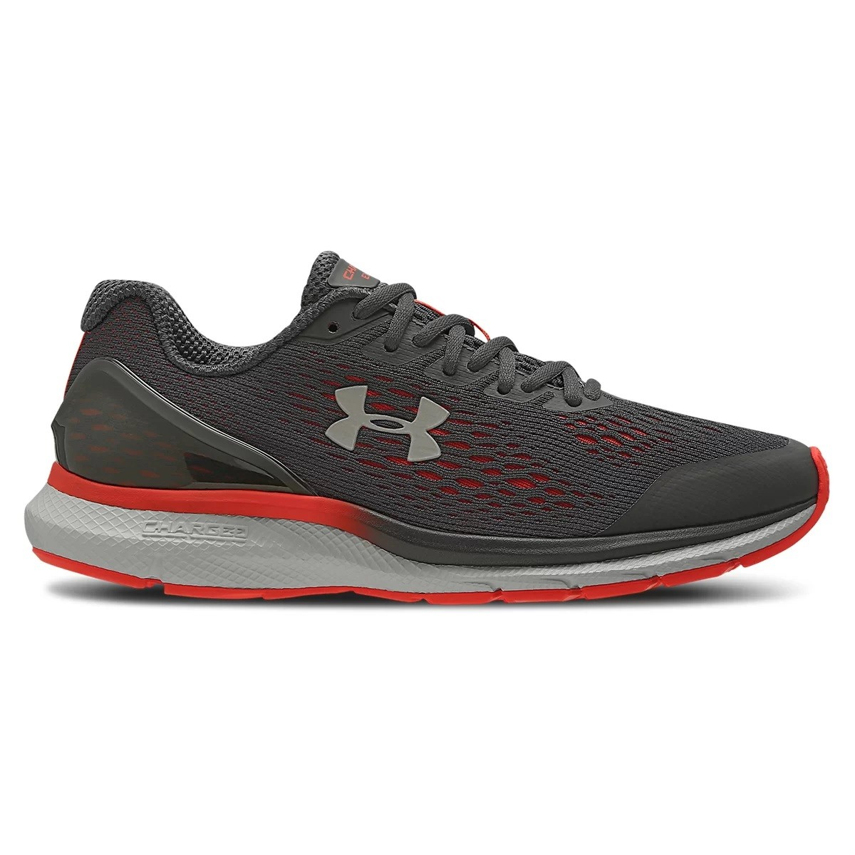 Tênis Under Armour Charged Extend Masculino Grafite e Vermelho