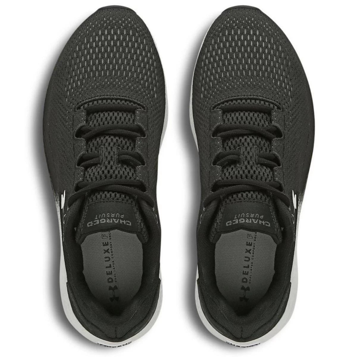 Tênis Under Armour Charged Pursuit 2 Masculino Preto e Branco