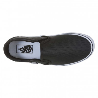 Tênis Vans Asher Leather Feminino Preto e Branco