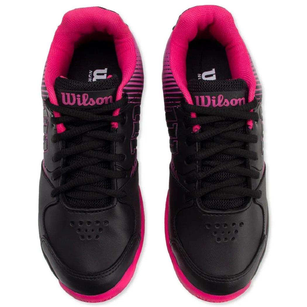 Tênis Wilson Ace Plus Feminino Preto e Pink