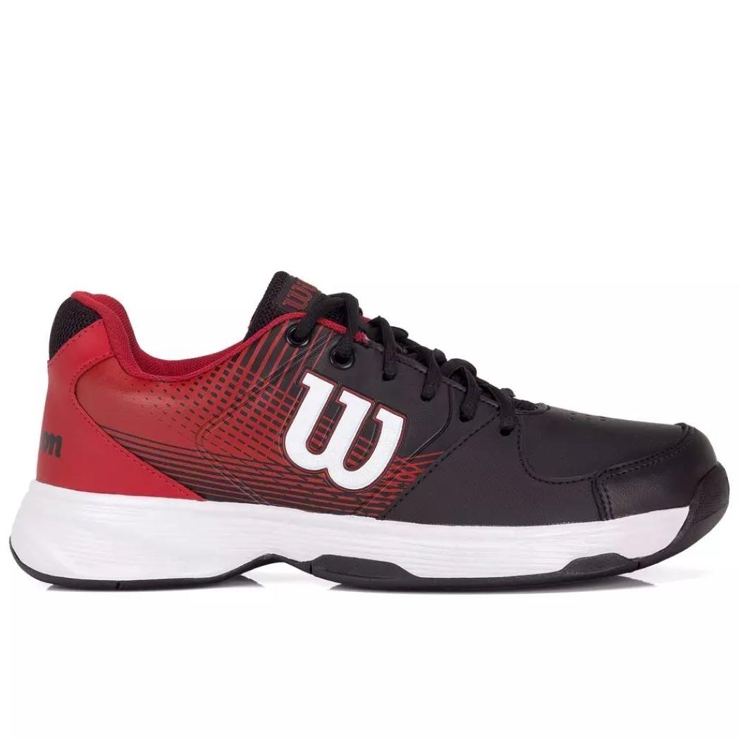 Tênis Wilson Ace Plus Masculino Preto e Vermelho