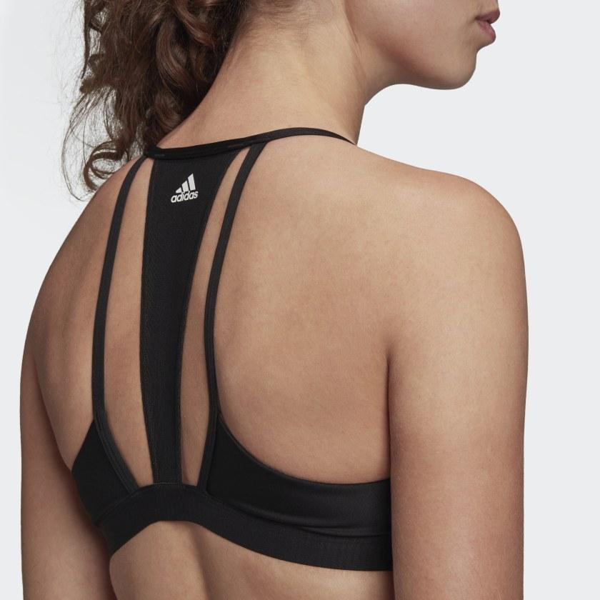 Top Adidas Mesh All Me 3-Stripes Preto e Branco