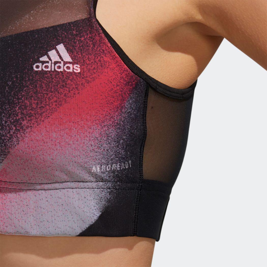 Top Adidas Unleash Confidence Preto e Vermelho