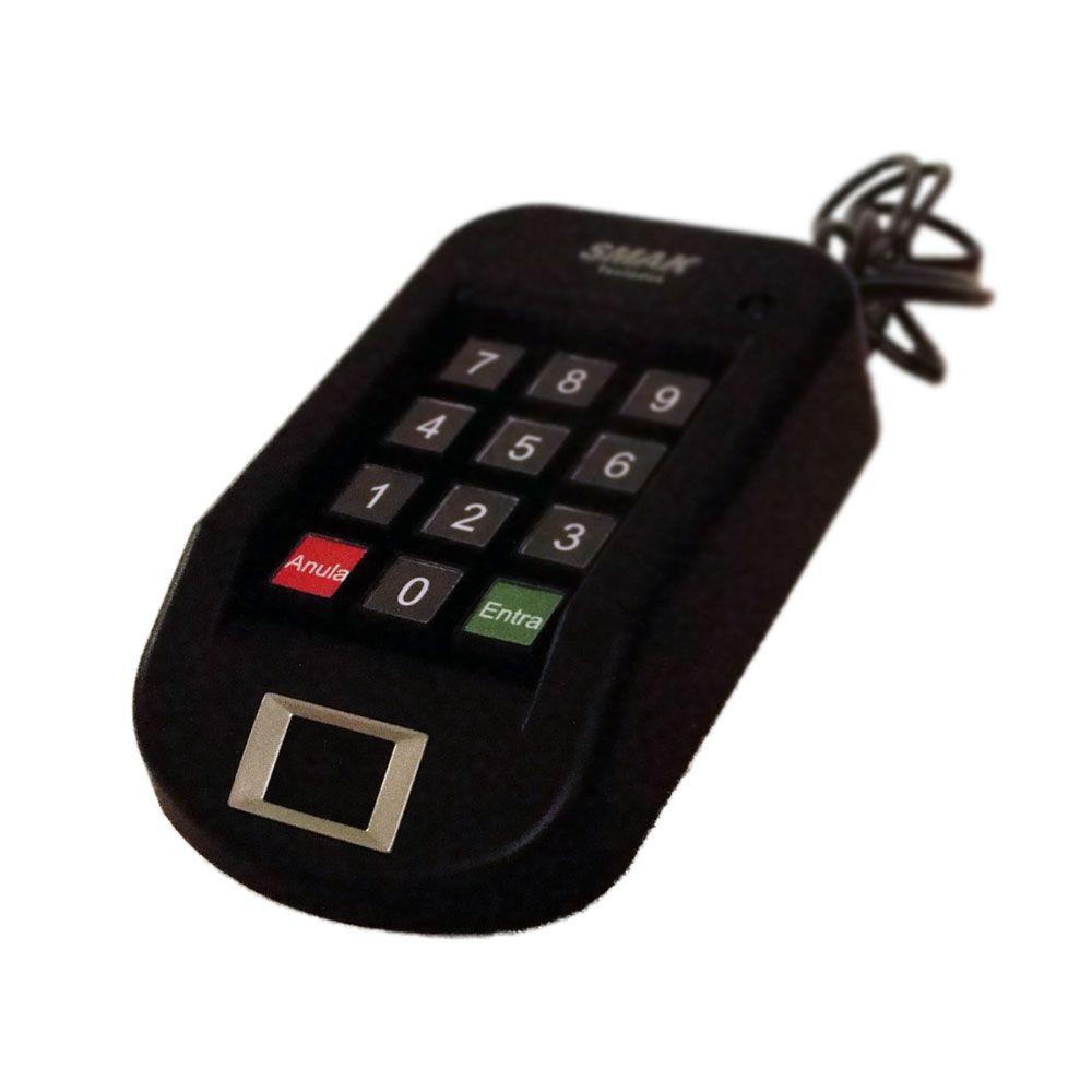 Teclado para Digitação de Senhas com Leitor Biométrico