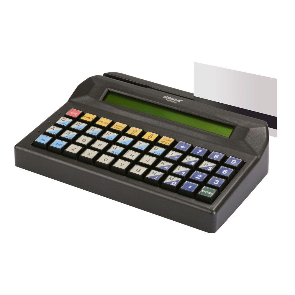 Teclado Programável para PDV com Display e Leitor de Cartão Magnético SKO 44 Disp LCM