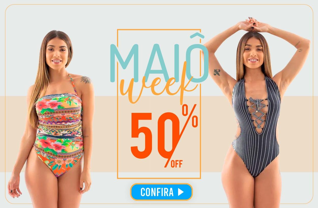 MAIÔ WEEK- São inúmeras estampas com 50% de desconto!  - Pitanga Moda Praia - Maiôs exclusivos!