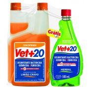 Desinfetante Bactericida Limao Cravo 1 Litro Vet+20
