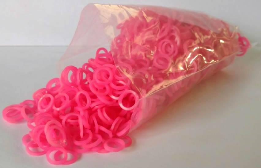 Elástico colorido 5/16 Rosa