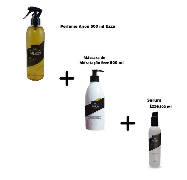 Kit Arjon Mascara De Hidratação + Serum + Perfume - Ezze