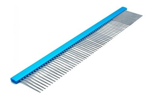 Pente 25cm Duplo Alumínio Azul