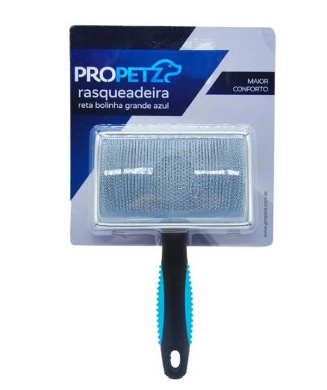 Rasqueadeira Reta c/ Bolinha Grande Propetz Azul