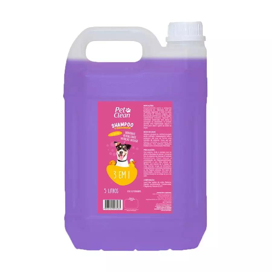 Shampoo 3 em 1 Pet Clean 5L