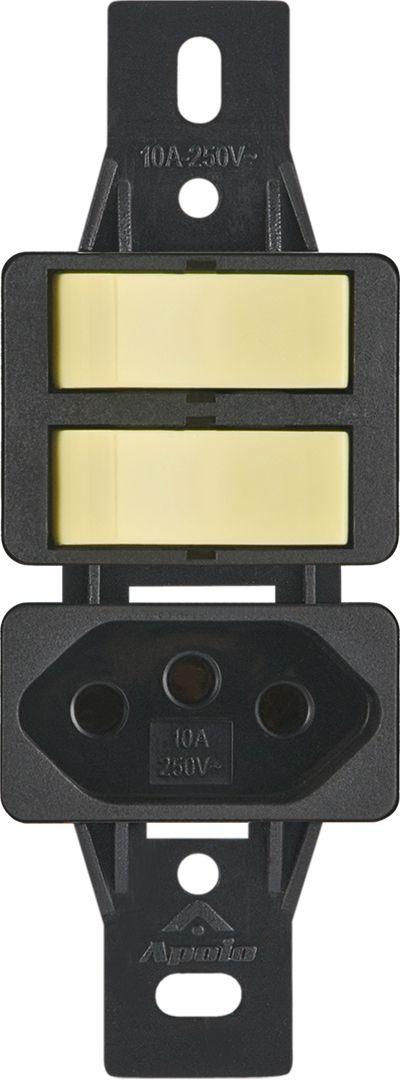 2INT.SIMPLES+TOMADA 2P+T 10A 250V S/PLACA SILENLUX (10 UNIDADES)