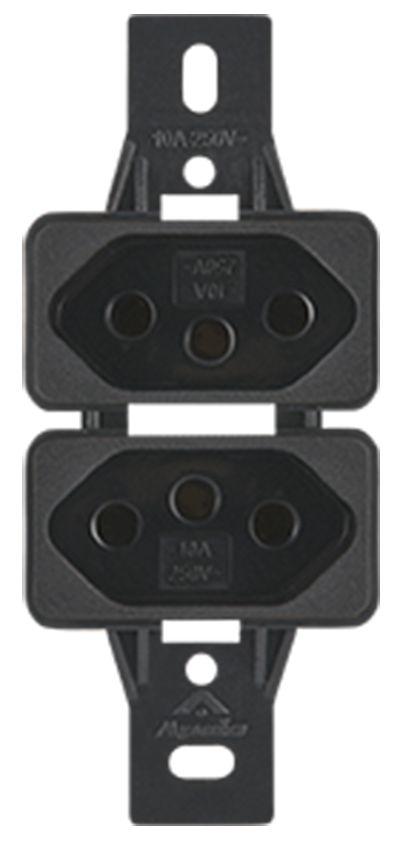 2 TOMADAS 2P+T 10A 250V S/PLACA SILENLUX  (20 UNIDADES)