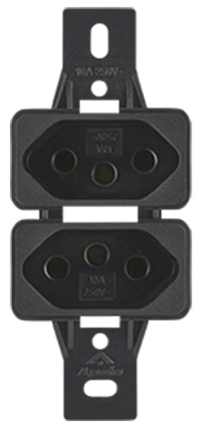2 TOMADAS 2P+T 20A 250V S/PLACA SILENLUX (20 UNIDADES)
