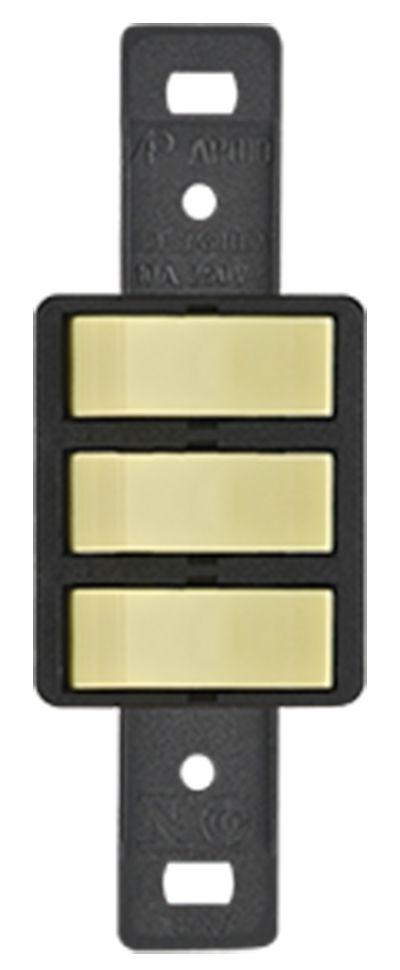 3 INTERRUPTORES PARALELOS 10A 250V S/PLACA SILENLUX (10 UNIDADES)