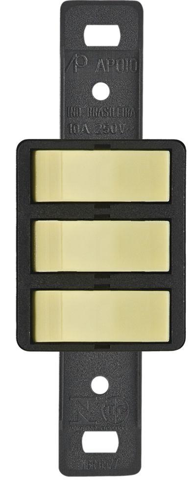 3 INTERRUPTORES SIMPLES 10A 250V S/PLACA SILENLUX (20 UNIDADES)