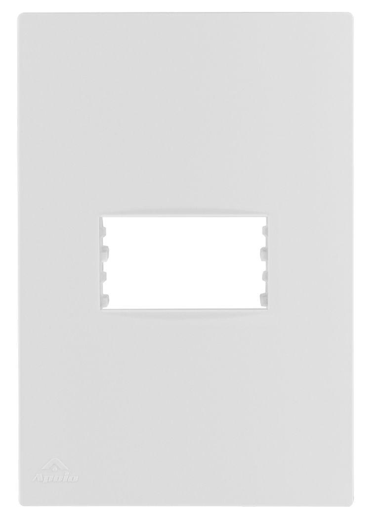PLACA 4X2 P/1 MODULO HORIZONTAL+SUPORTE LISSÊ (20 UNIDADES)