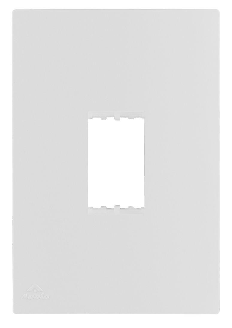 PLACA 4X2 P/1 MODULO VERTICAL+SUPORTE LISSÊ (20 UNIDADES)