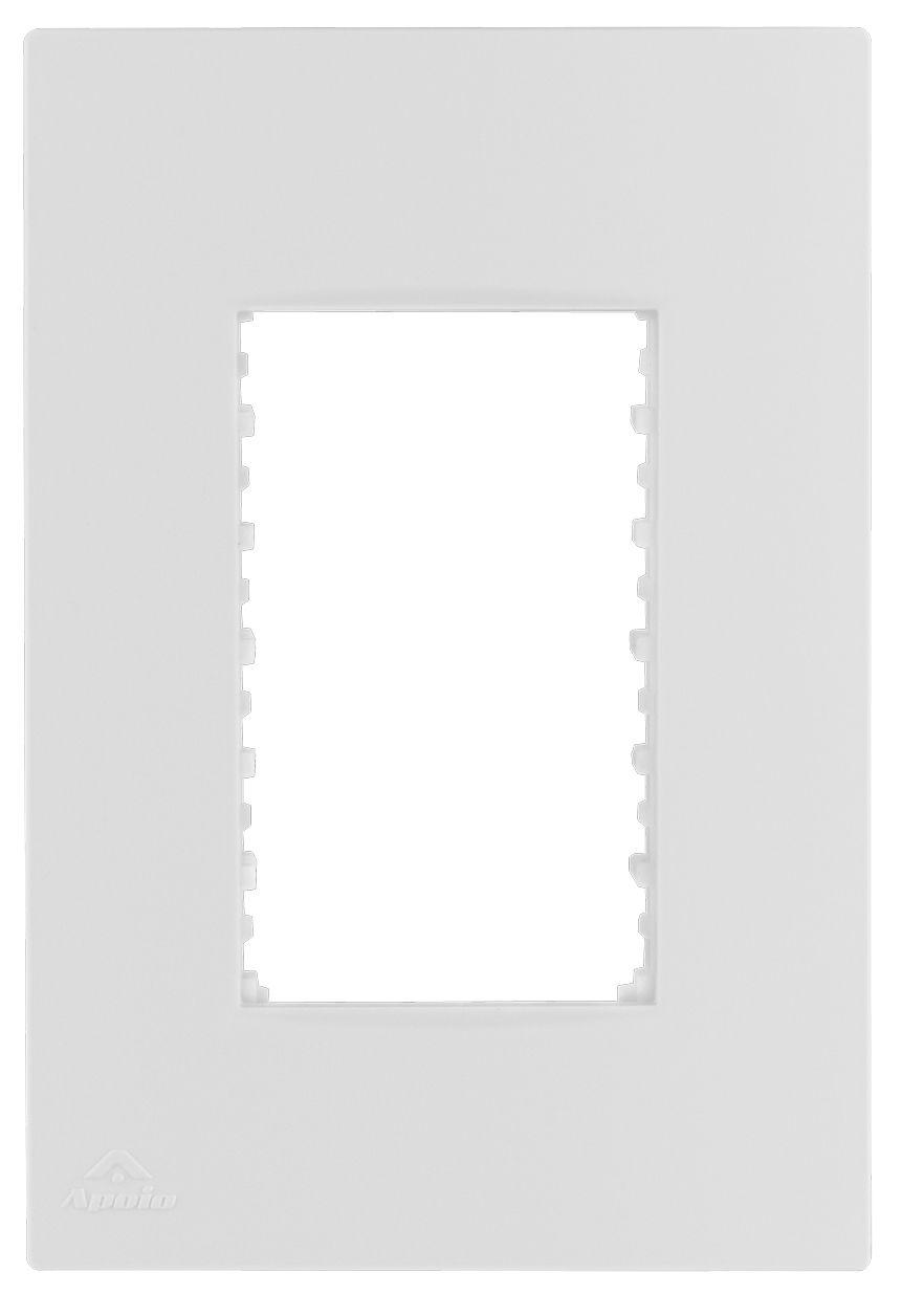 PLACA 4X2 P/3 MODULOS+SUPORTE LISSÊ (20 UNIDADES)