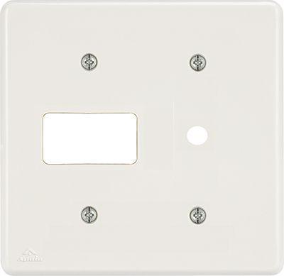 PLACA 4X4 P/1TOMADA 2P+T+FURO 10MM BIANCA (24 UNIDADES)