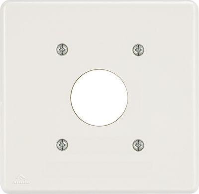 PLACA 4X4 P/1TOMADA REDONDA BIANCA ( 24 UNIDADES)