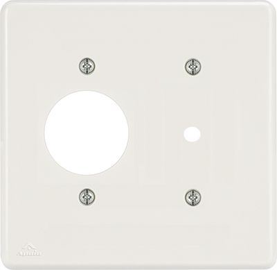 PLACA 4X4 P/1TOMADA REDONDA+FURO DE 10MM BIANCA ( 24 UNIDADES)