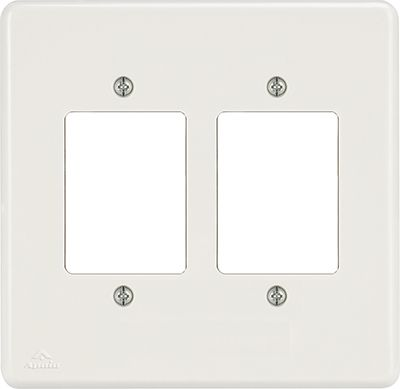 PLACA 4X4 P/2INTERRUPTORES DE 3TECLAS/RJ11 BIANCA ( 24 UNIDADES)