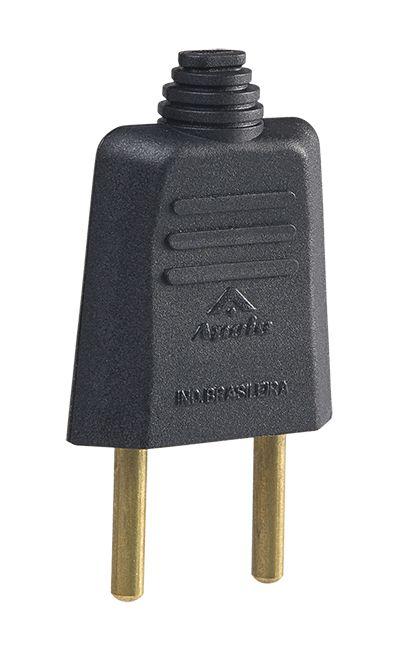 PLUGUE DESMONTAVEL 2P 10A 250V (40 UNIDADES)