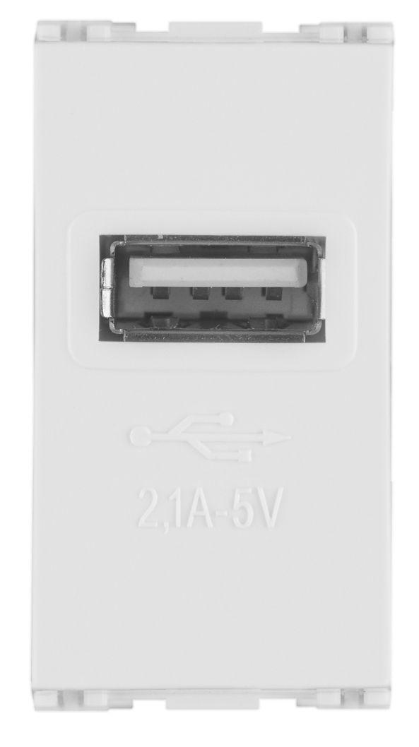 TOMADA USB BIVOLT 2,1A 5V MODULO LISSÊ (5 UNIDADES)