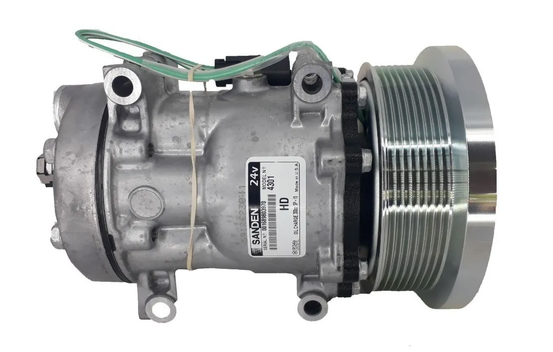 Compressor 7h15 24v Caterpillar / Maquina Case - Original SANDEN