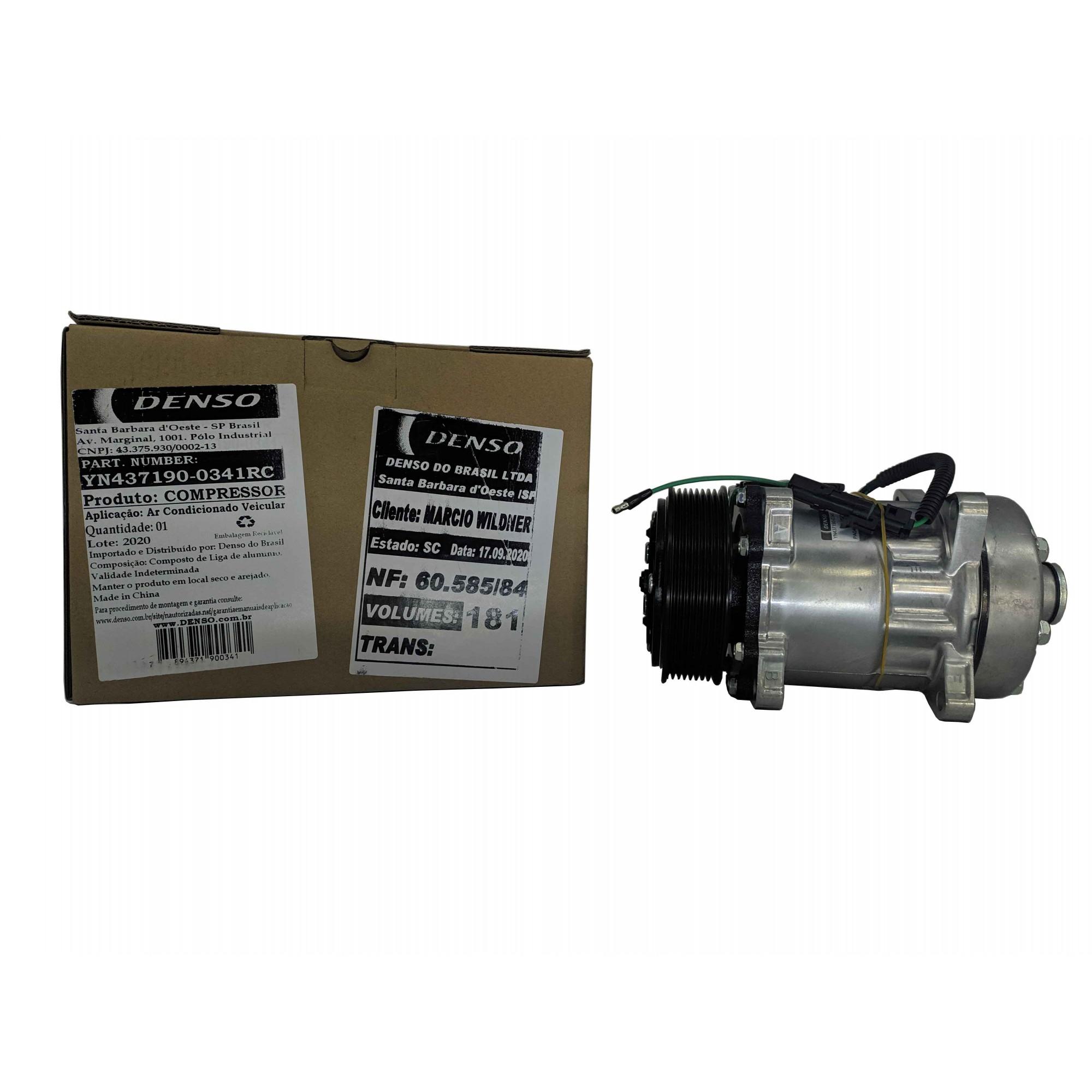 Compressor  7h15 8pk 24v Horizontal - Original DENSO