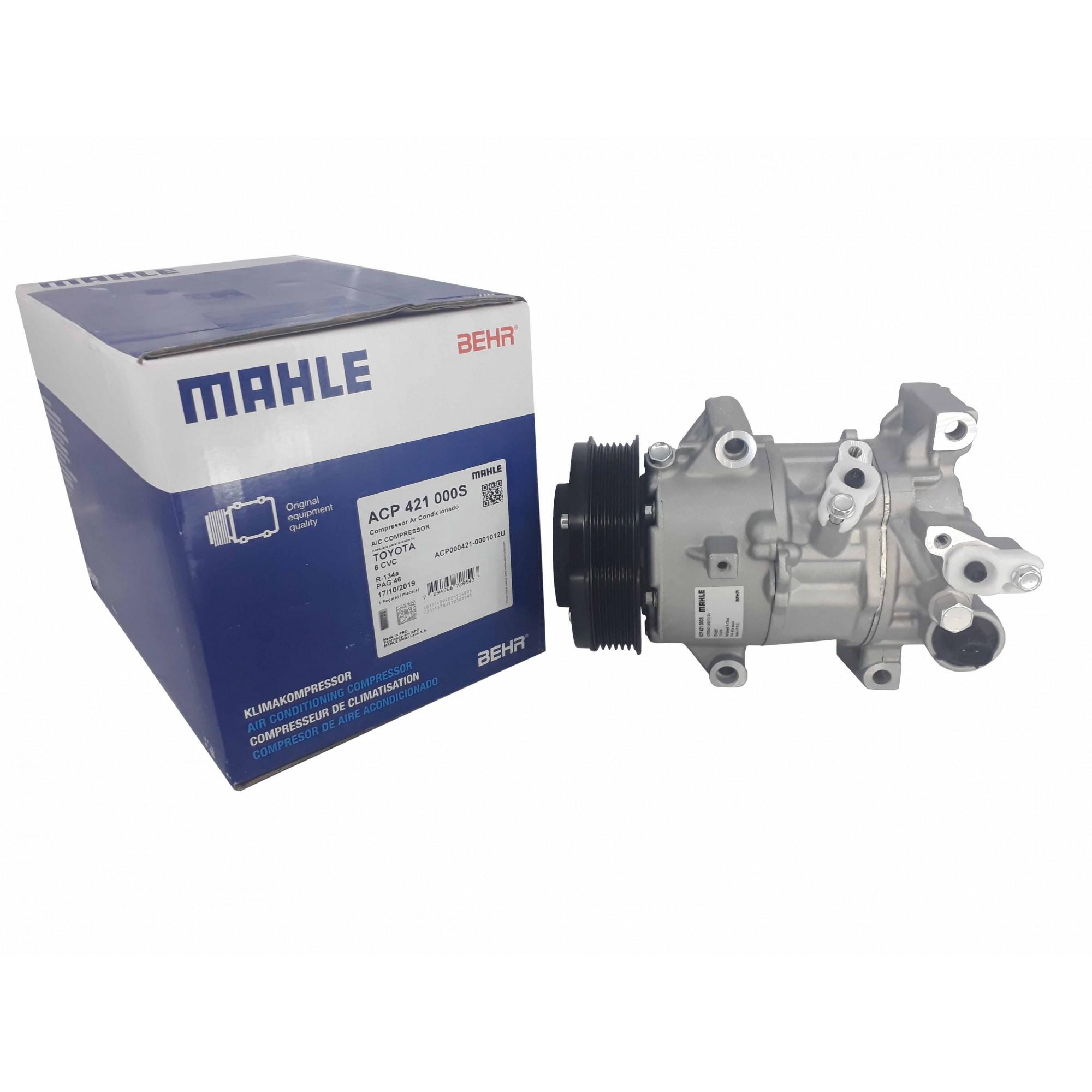 Compressor Ar Corolla 2015 Em Diante Original Mahle